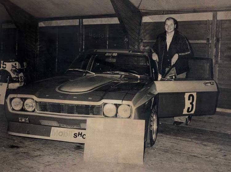 Gerd Brauneiser mit seinem Ford Capri